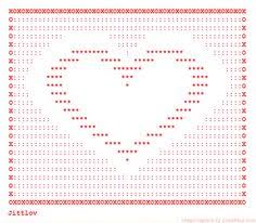 Ascii Art Flowers - roses in ascii ascii art flowers pinterest ascii art and art