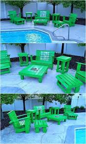 Wood Pallet Patio Furniture by 613 Best Pallet Outdoor Furniture Images On Pinterest Wood