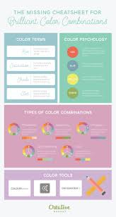 infographic a cheatsheet to brilliant color combinations