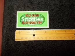 Ugly Green Nos New Vtg Ad Spoof Scotties Tissues Ugly Green Snotties No Ply