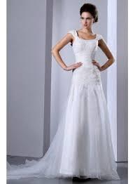 scoop neck drop waist wedding dress with cap sleeves 1st dress com