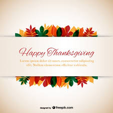 thanksgiving template with leaves vector free vector in
