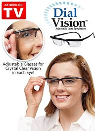 magnifying eyeglasses with light as seen on tv dial vision adjustable focus eye glasses without a prescription