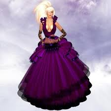 second life marketplace kl ap 132 flavia in purple gothic