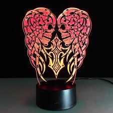 halloween skull 3d optical illusion led lamp hologram u2013 the 3d lamp
