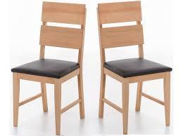 Esszimmerstuhl Buche 2 X Stuhl In Buche Massiv Geölt Sitz Gepolstert Lederlook Schwa