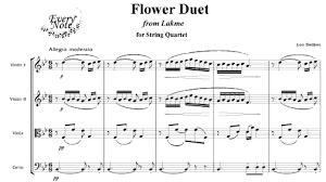 Flower Duet - delibes flower duet from lakme chamber sheet music download
