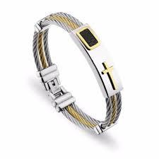 religious bracelet premium religious cross steel bracelet 2 variants ring to