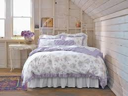 White Iron Headboard Rustic Bedroom With Shabby Chic Pastel Colors Bedding Set Rustic