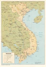 World Map Vietnam by Vietnam Physical Map 1985 Full Size