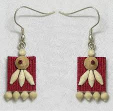 jute earrings jute earrings with wooden