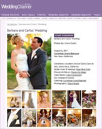 the wedding channel registry barbara and carlos corinthian room wedding is featured on the