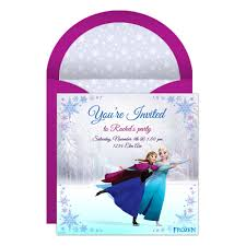 frozen online party invitation disney family