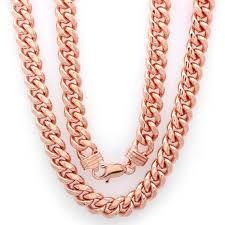 rose gold men necklace images Cheap rose gold cuban link find rose gold cuban link deals on jpeg