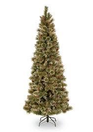7ft glittery bristle pine slim artificial tree