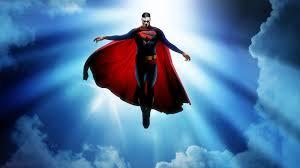 man steel superman flying wallpaper