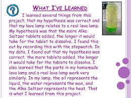 lava l science fair project blobs in a bottle ppt video online download
