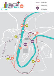 Maps Route by Route Maps Durham City Run