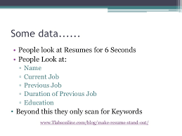 Resume 6 Seconds Make Your Resume Stand Out