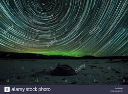 polaris star star trails polaris earth u0027s rotation hoar frost at night stock