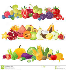 fruits u0026 vegetables clipart vector pencil and in color fruits