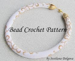 beaded crochet necklace pattern images Pattern for bead crochet necklace gold jpg