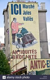 Paris Wall Murals Old Wall Mural Shop Stock Photos Old Wall Mural Shop Stock