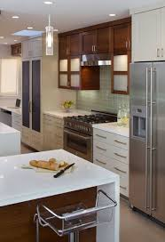 Modern Cherry Kitchen Cabinets Frosted Glass Kitchen Cabinets Design Ideas