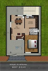 2bhk floor plan way2nirman 100 sq yds 25x36 sq ft west face house 2bhk floor plan