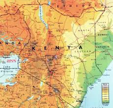 africa map elevation large elevation map of kenya with other marks kenya africa