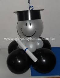 centros de mesa con globos para fiesta de grado fiestadegrado