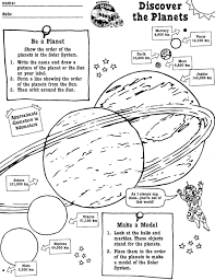 discover the planets printable scholastic com