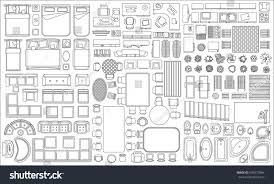 set linear icons interior top view stock vector 699277864