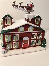 lighted santa s workshop advent calendar advent house ebay