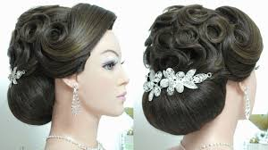 bridal hairstyle latest wedding updo bridal hairstyle for long hair tutorial youtube