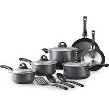 farberware dishwasher safe stainless steel 13 piece cookware set