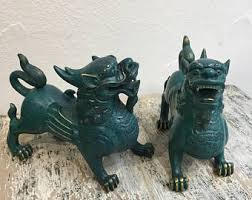 yellow foo dogs13th birthday ideas foo dog etsy