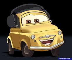 cars characters yellow how to draw luigi from cars step by step disney characters