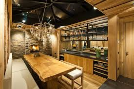 kitchen black interior ceiling paint idea and awesome pendant