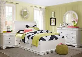 White Twin Bedroom Set Oberon White 5 Pc Twin Sleigh Bedroom Twin Bedroom Sets White