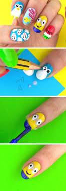 easy nail art characters 18 super cute summer nail designs for 2017