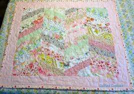 quilted cupcake shabby chic easy chevron quilt