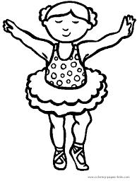 ballet ballerina dancing color coloring pages kids