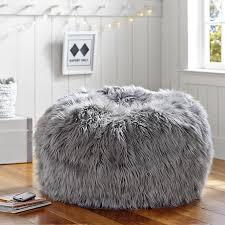 gray fur rific beanbag pbteen