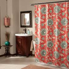 ankara shower curtain in cinnabar bedbathandbeyond com