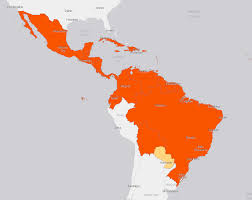 Cuba South America Map by Zika Virus Maps Holiday Destinations Where Zika Might Strike Next