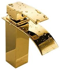 marseille deck mount bathroom basin sink faucet gold