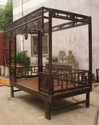 Vintage Canopy Bed Canopy Bed Antique And Restored Elmwood With Carving And