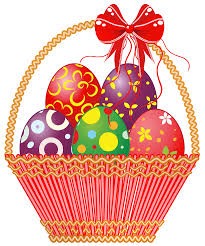 easter red basket with eggs png clipart picture gallery