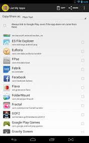 my android apps android list my apps allows you to quickly show your